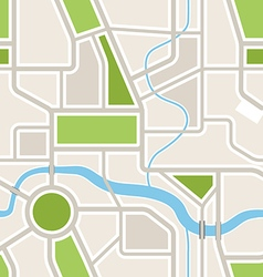 Seamless background of abstract city map vector
