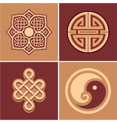 Set of Oriental Design Elements vector image