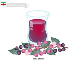 Falsa sharbat or iranian drink from grewia asiatic vector