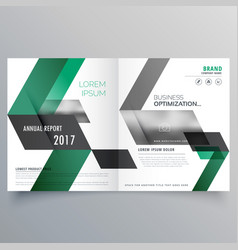 Abstract bifold business brochure design template vector
