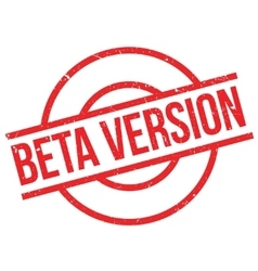 Beta version stamp vector image