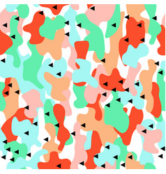 Camouflage seamless pattern in a blue green and vector