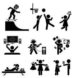 Childhood set pictogram icon set vector