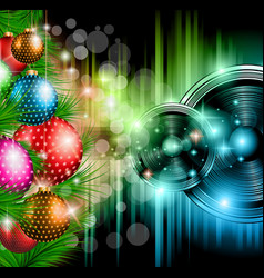 Christmas Club Party Background vector image vector image