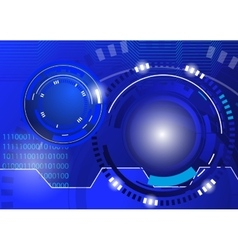 Circle blue abstract techno background vector