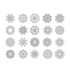 Circle ornament frame vector image vector image