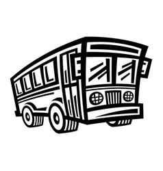 city bus transit vehicle icon vector image vector image