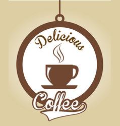 Coffee design over beige background vector
