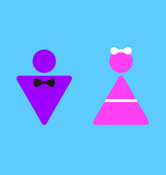 Colorful sign icon for girls and boys vector