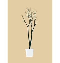 Dead tree in pot vector image
