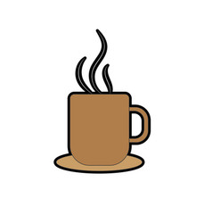 delicious coffee cup to drink vector image