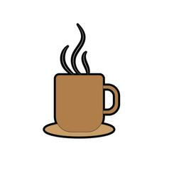 Delicious coffee cup to drink vector