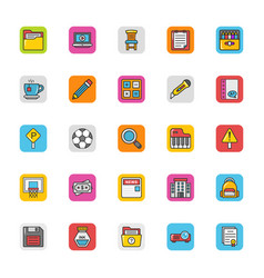 Education icons 8 vector