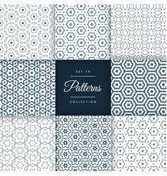 Elegant set of line pattern collection design vector