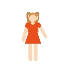 Family daughter girl child vector