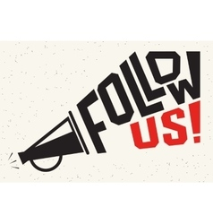 Follow us banner for social networks vector