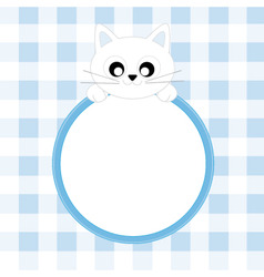 frame cat vector image vector image