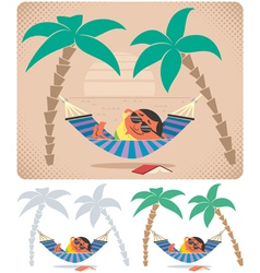Hammock Relaxation vector image vector image