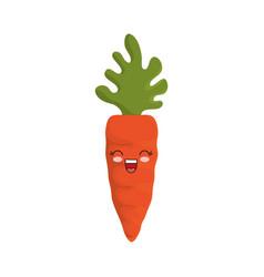 Kawaii carrot icon vector