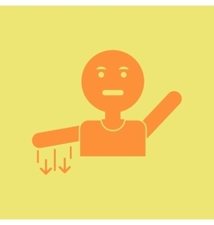 Man with numb hand vector