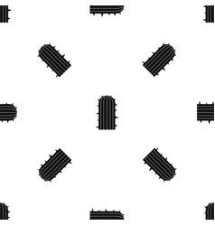 Plant of desert pattern seamless black vector