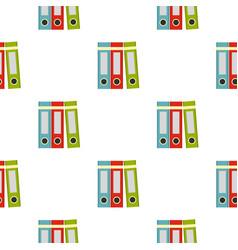Red green blue office folders pattern seamless vector