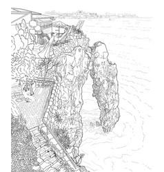 rock in the sea vector image