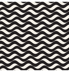 Seamless black and white wavy horizontal vector