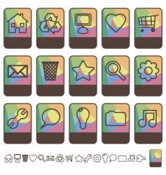 tab icons set vector image vector image