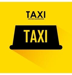 taxi signal design vector image vector image