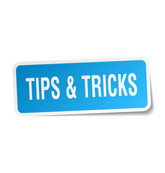 tips tricks square sticker on white vector image vector image