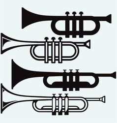 Trumpet musical instrument vector image