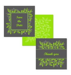 Wedding stationery design set vector image