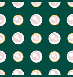 White pearl golden jewellery seamless pattern vector