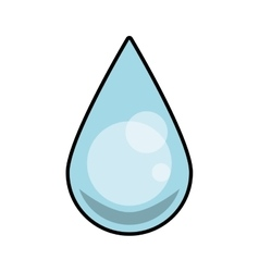 Drop blue water clean icon graphic vector