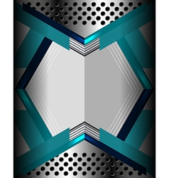 Metal geometric modern background vector