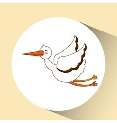 Stork bird icon design graphic vector