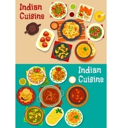 Indian cuisine traditional dinner icon vector