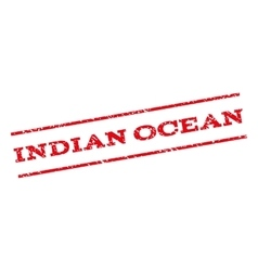 Indian ocean watermark stamp vector