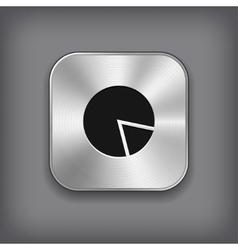 Diagram icon - metal app button vector