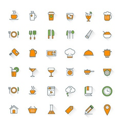 Food and restaurant flat design icon set food vector