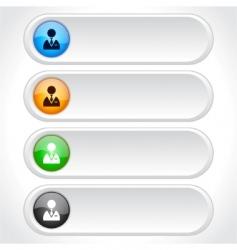 website menu items vector image