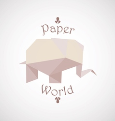 Origami elephant vector image