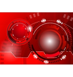 Circle red abstract techno background vector