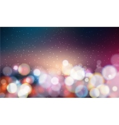 Bokeh background glittering lights vector image