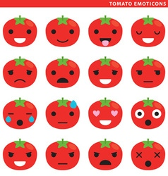 Tomato emoticons vector