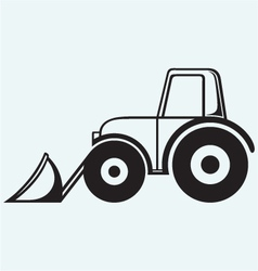 Agricultural machinery tractor vector