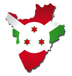Burundi flag amp map vector