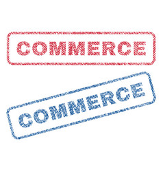commerce textile stamps vector image