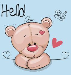 Cute drawing teddy vector